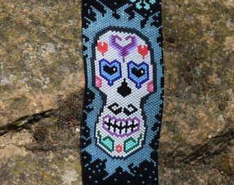 Miyuki Delicas beads, embroidery Peyote cuff
