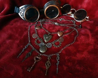 SteamPunk knick-knack Necklaces