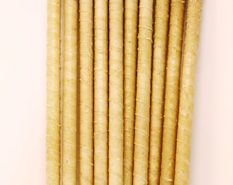10 pack lavender Beeswax handcrafted  Ear Candles