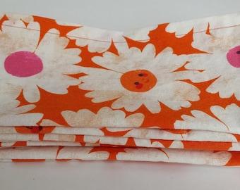 Large Cloth Napkins, Set of Four - Happy Flowers // Everyday Napkins // Family Napkins // Eco Friendly // Hostess Gift // Housewarming