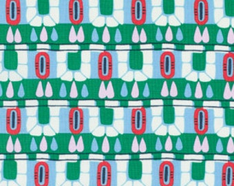 Amy Butler Cameo Hopscotch in Pine - One Yard