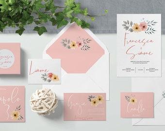 Invitations de mariage invitations de mariage-suite-modèle Bonn