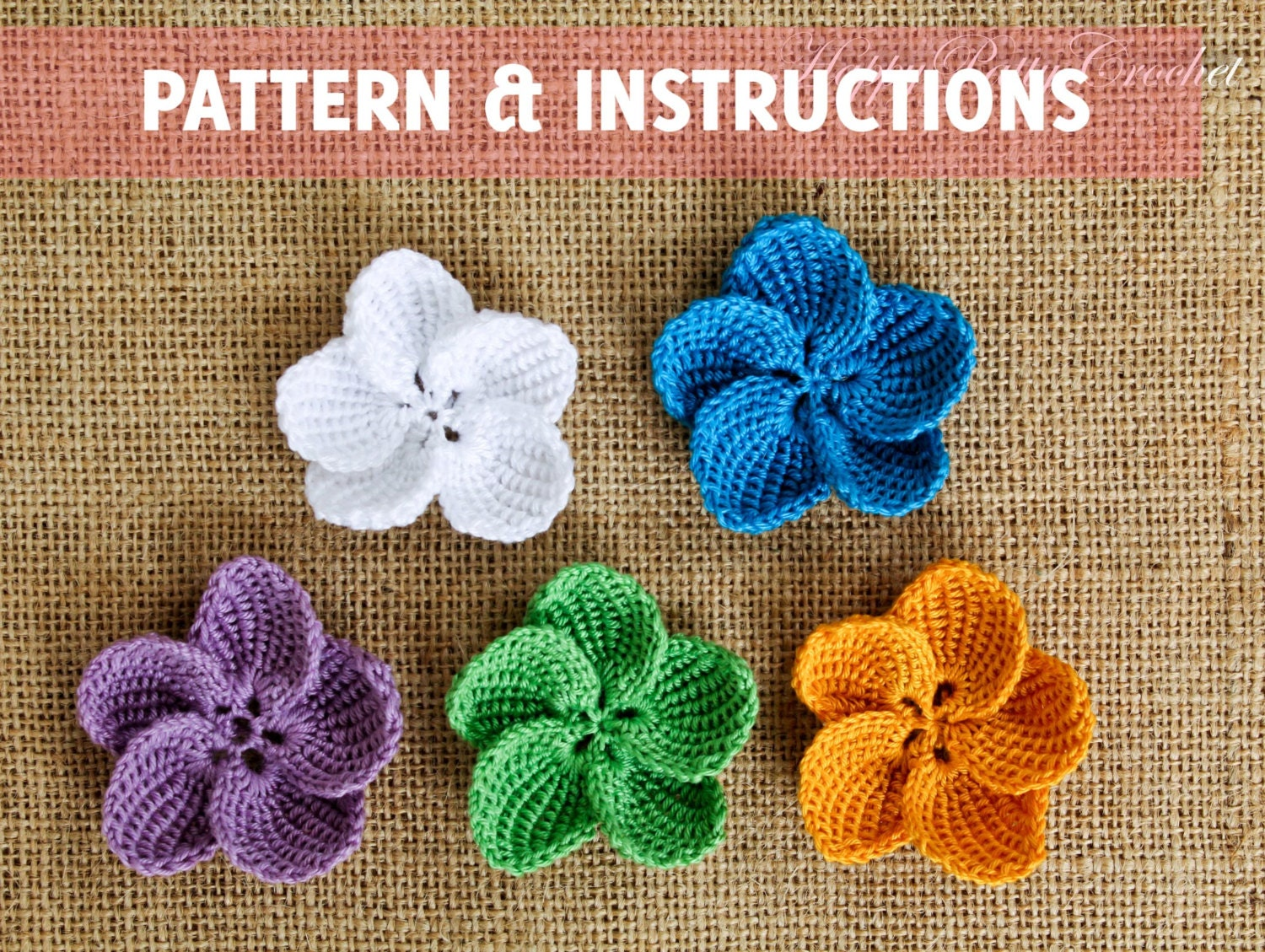 Crochet plumeria pattern and instructions crochet flower zoom bankloansurffo Images