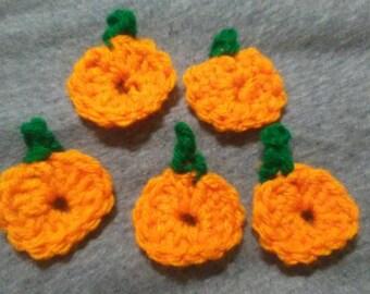 Pumpkin appliques (set of 5)