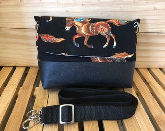 Grab & Go Mini Messenger Bag - Out West Horses