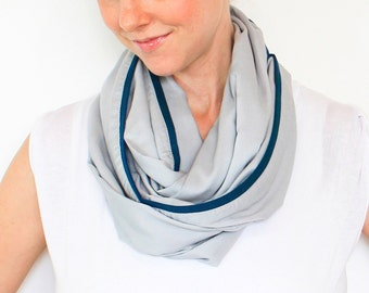 Infinity Nursing Scarf, Gentle Grey