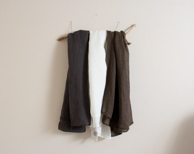 large linen wrap shawl scarf / loose weave super comfy linen shawl wrap / summer blanket / comfy beach shawl