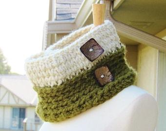 Crochet Chunky Cowl Pattern, Crochet Cowl Pattern, Knit Look Crochet Cowl Pattern, Chelsea Cowl