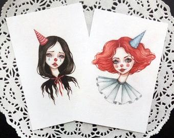 Art Cards. Fine Art Prints. Clowns.