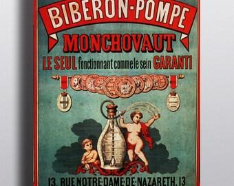 Biberon-Pompe Monchovaut - Vintage French Advertising Poster Print