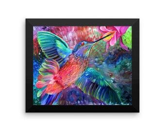 Hummingbird Framed poster
