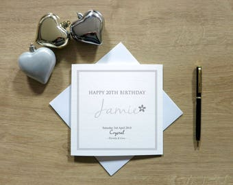 Personalised April Birthday Card - Diamond/Crystal Birthday Card - Birthstone Card - Card For Her - Cards For Women - Cards For Wife