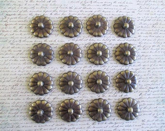 16 Little Vintage Brass Drawer Pull Pieces