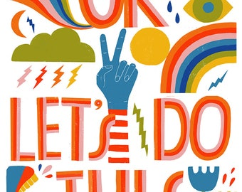 OK, Let's Do This Art Print - Lisa Congdon