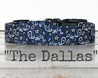 DOG COLLAR, Dog Collars for Boys, Dog Collar for Girls, The Dallas, Modern Dog Collars, Cool Dog Collars, Gender Neutral Dog Collar