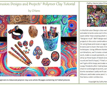 Extrusion Designs and Projects polymer clay cane tutorial by CHarm