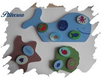 "Bingo wooden ""sea"" and its storage bags"