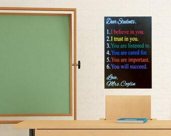 Teacher Appreciation Gift Personalized - Teacher Appreciation - Teacher Appreciation Gift - Classroom Decor - Teacher Sign - Classroom Sign