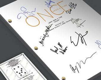 Once Upon A Time - Episode TV Script Screenplay Signed Autograph Reprint - OUAT Ginnifer Goodwin, Jennifer Morrison, Lana Parrilla