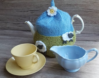A beautiful hand knitted teacosy