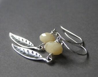 Earrings / Quartz Gemstone Earrings / Gift for Her / Accessories / Jewelry / Boho Chic Earrings / Sterling Silver Earrings