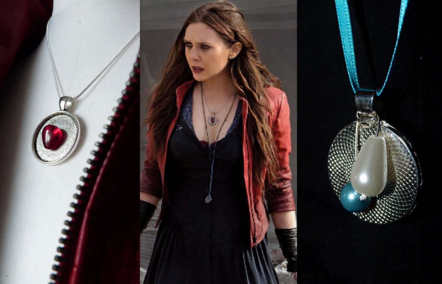 Wanda Maximoff/Scarlet Witch Cosplay Necklace Avengers Age of
