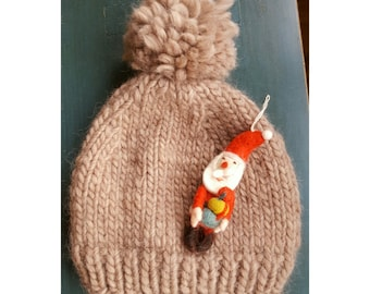 Beanie knitted || BeauBeanie sand color