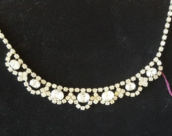 Vintage Rhinestone statement necklaces