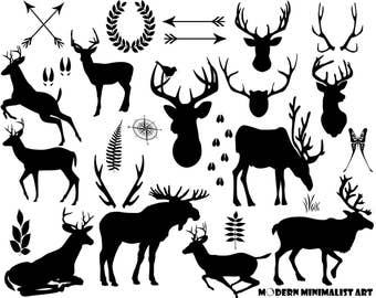 Deer Clipart Black – 26 PNG Images