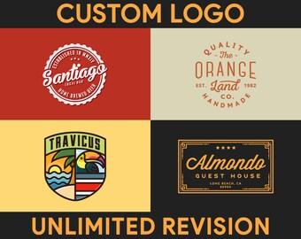 Custom Logo Design, Graphic Design, Professional Logo, Logo Designer, Small Business, Logo, Shop Logo, Brand Logo, Retro Logo, Vintage Logo