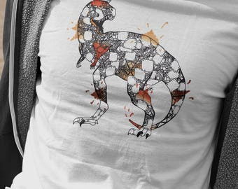 Mens Carnotaur T-Shirt, Steampunk Dinosaur Tshirt, Robot Dino Shirt, Gifts For Him, Dinosaur Lover Present, Steampunk Animals Collection