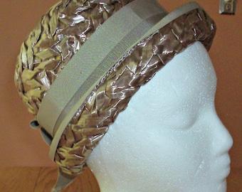 Vintage Straw/Ribbon Woven Hat