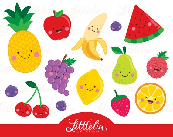Fruit clipart Cute fruit clipart 15064