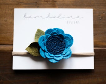 Heathered Blue || Single Rose Style Flower