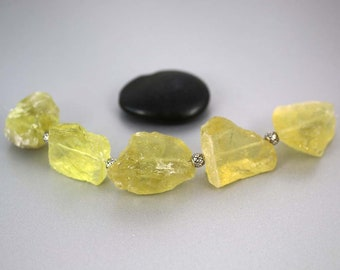 Lemon Quartz Nugget Beads - 20 to 33 mm - Lemon Quartz - Pendant Beads