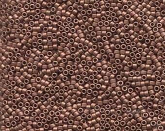 11/0 Miyuki Delica Matte Copper Seed Beads, DB 340, 7 Gram Tube