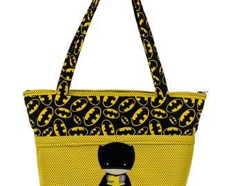 Batman Diaper Bag, New Father Gift, Superhero Diaper Bag, Baby Boy Shower Gift, Comic Book, Caped Crusader, Unique Baby Gift, Baby Bag