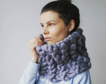 Knit Scarf. Gift for her. Chunky Snood