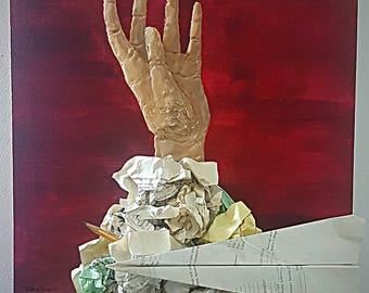 Overwhelmed- 3D hand