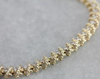 Yellow Gold and Diamond Bracelet, Stacking Bracelet, Layering Bracelet, Diamond Anniversary PCJ6LYCD-C