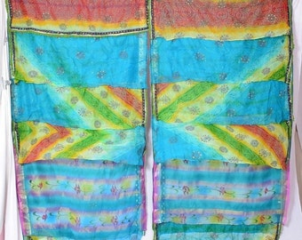 Indian curtains Gypsy curtains boho chic decor saree curtains saree bohemain curtains water  color curtains C314
