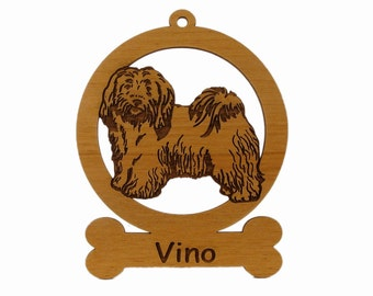 Havanese Stack Ornament 083345 Personalized With Your Dog's Name