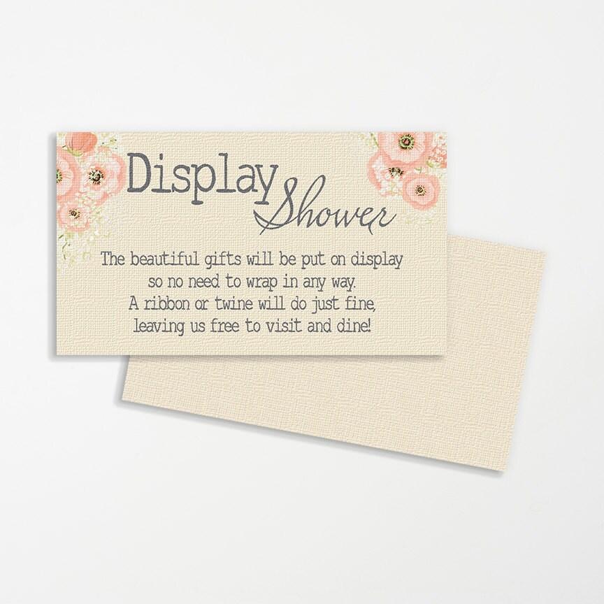 Wedding Gift Wrap Etiquette: Display Shower Wedding Printable Printable Bridal Display