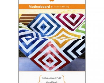"""Orange Dot Quilts """"Motherboard"""" Pattern by Dora Cary"""