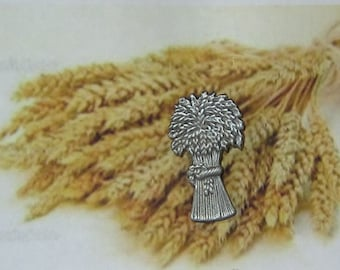 Sheaf of Wheat Pewter Bar Pin