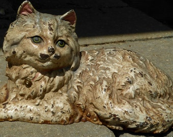 Early 20th Century Cast Iron Fireside Cat by Hubley