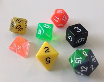 Polyhedral Dice Set - Toxic Waste - DnD Tabletop RPG