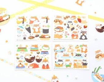 Shibaji Stickers Set, Shibaji Stickers, Korean Stickers