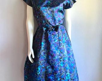 Vintage Women's 50's Cocktail Dress, Short Sleeve, Knee Length (M)