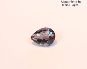 10 pcs Natural ALEXANDRITE , Faceted Pear shape Gemstone, Color Changing Alexandrite Doublet Quartz, +++AAA Quality Alexandrite Lx#2109